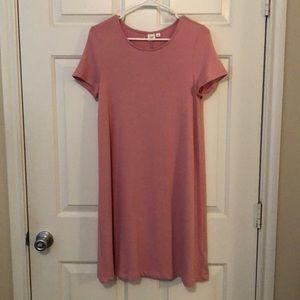 Pink GAP t-shirt dress, M